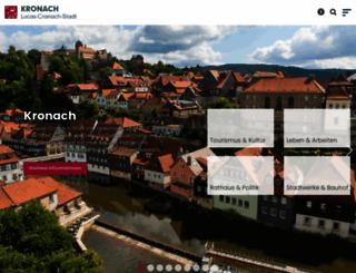 kronach.de screenshot