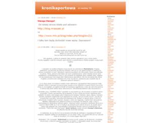 kronikaportowa.ownlog.com screenshot