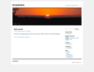 kroyokulon.wordpress.com screenshot