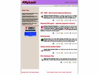 krylack.net screenshot