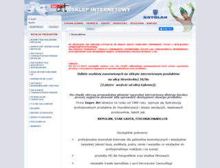 kryolan.impre-art.com.pl screenshot
