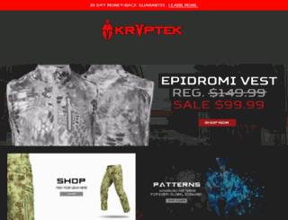 kryptekfabric.com screenshot