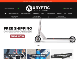 krypticproscooters.com screenshot