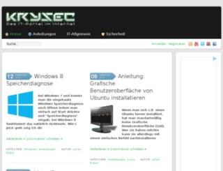 krysec.de screenshot