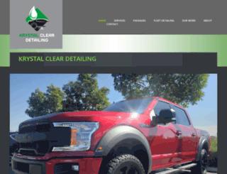 krystalcleardetailing.com screenshot