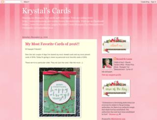 krystalscardsandmore.blogspot.com screenshot