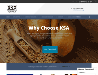 ksakosher.com screenshot