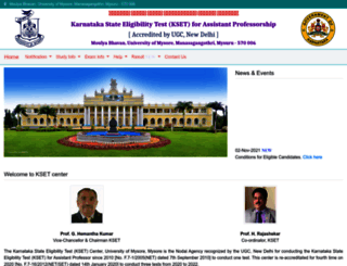 kset.uni-mysore.ac.in screenshot
