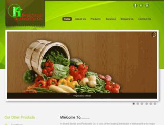 kshantiseeds.com screenshot