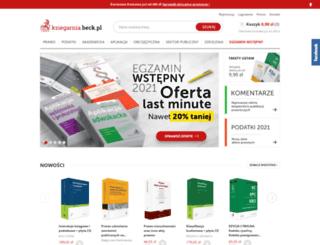 ksiegarnia.beck.pl screenshot