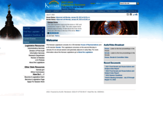 kslegislature.org screenshot