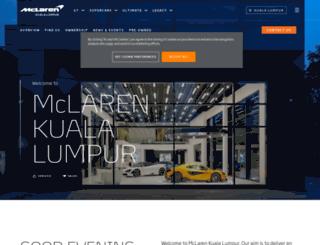kualalumpur.mclaren.com screenshot