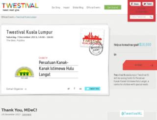 kualalumpur.twestival.com screenshot