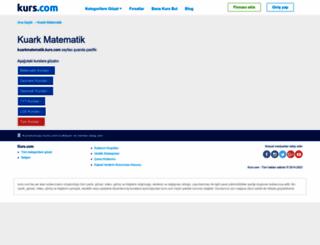 kuarkmatematik.kurs.com screenshot