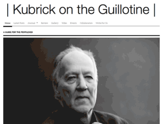 kubrickontheguillotine.com screenshot