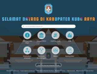 kuburayakab.go.id screenshot