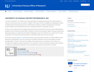 kucr.ku.edu screenshot