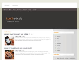 kuehl-edv.de screenshot