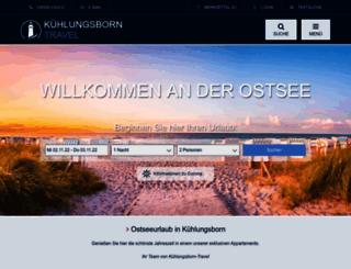 kuehlungsborn-travel.de screenshot