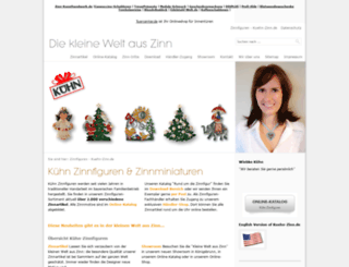 kuehn-zinn.de screenshot