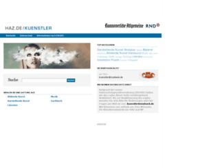 kuenstler.haz.de screenshot