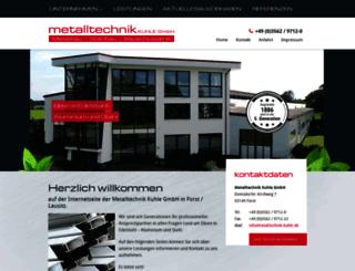 kuhle-metallbau.de screenshot
