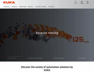 kuka-robotics.com screenshot