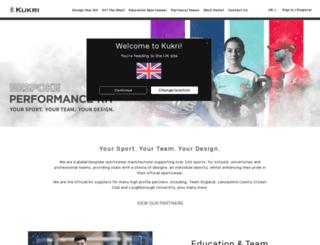 kukrisports.com screenshot