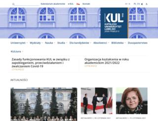 kul.lublin.pl screenshot