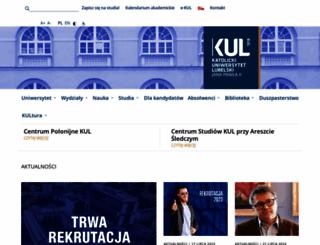 kul.pl screenshot