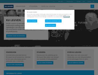 kuleuven.ac.be screenshot