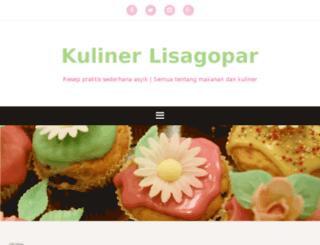 kuliner.lisagopar.com screenshot
