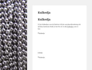 kulkedja.se screenshot