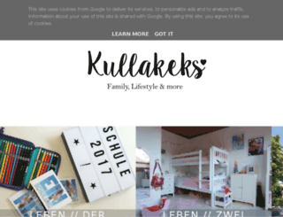 kullakeks.blogspot.de screenshot