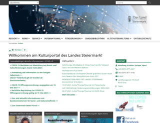 kultur.steiermark.at screenshot