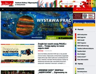 kultura.andrychow.eu screenshot
