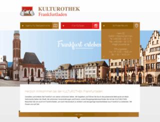 kulturothek-frankfurt.de screenshot