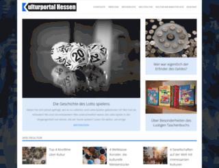 kulturportal-hessen.de screenshot