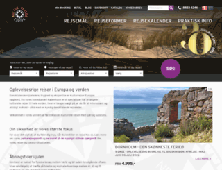 kulturrejser-europa.dk screenshot