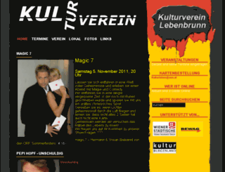 kulturverein-lebenbrunn.at screenshot