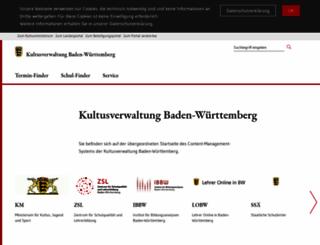 kultus-bw.de screenshot
