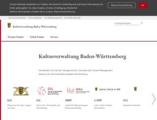 kultus-bw.info screenshot
