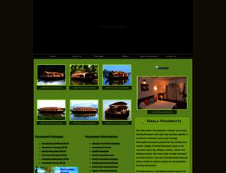 kumarakomhouseboats.org screenshot