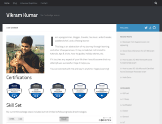 kumarvikram.com screenshot