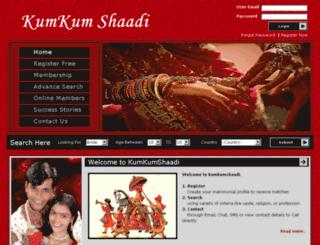 kumkumshaadi.com screenshot