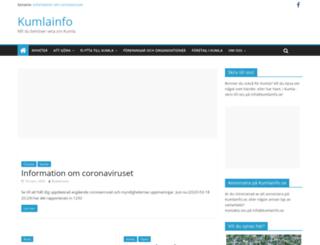 kumlainfo.se screenshot