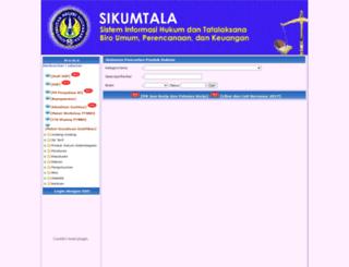 kumtala.uny.ac.id screenshot