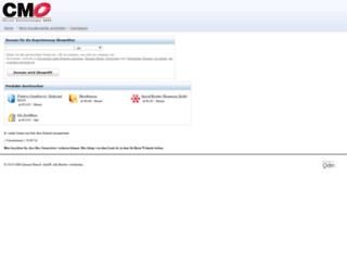 kundencenter.cmo.de screenshot