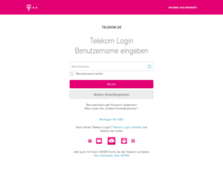 kundencenter.telekom.de screenshot