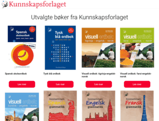 kunnskapsforlaget.no screenshot